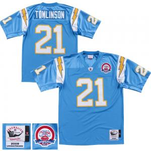 Mitchell & Ness NFL San Diego Chargers LaDainian Tomlinson 2009  Collection Throwback Retired Player Jersey