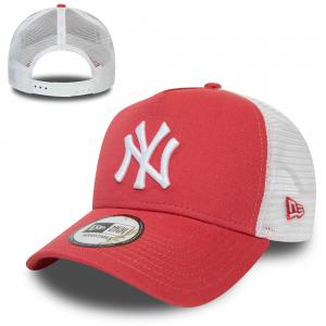 New Era New York Yankees League Essential Coral Trucker