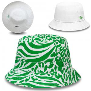 New Era All Over Print Green Reversible Bucket