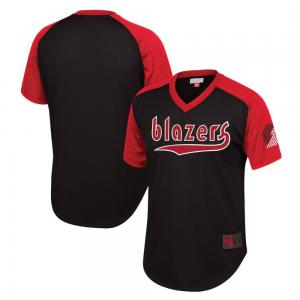 Mitchell & Ness NBA Portland Trail Blazers Final Seconds Mesh V-Neck