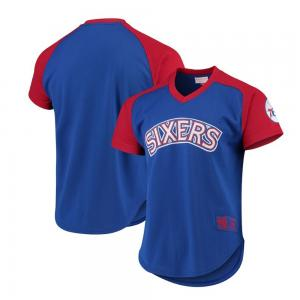 Mitchell & Ness NBA Philadelphia 76ers Final Seconds Mesh V-Nack Jersey