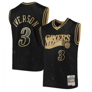 Mitchell & Ness NBA Philadelphia 76ers Allen Iverson Black  2000-01 Hardwood Classics Chinese New Year Swingman Jersey