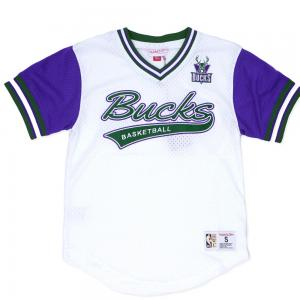 Mitchell & Ness NBA Milwaukee Bucks Top Prospect Mesh V-Neck Jersey