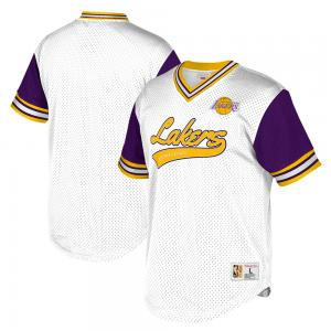 Mitchell & Ness NBA Los Angeles Lakers Top Prospect Mesh V-Neck Jersey
