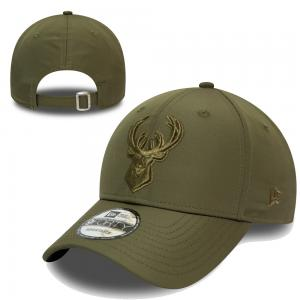 New Era NBA Milwaukee Bucks Tonal Nylon Green 9FORTY Cap