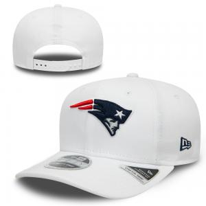 New Era NFL New England Patriots White Base Stretch Snap 9FIFTY Cap
